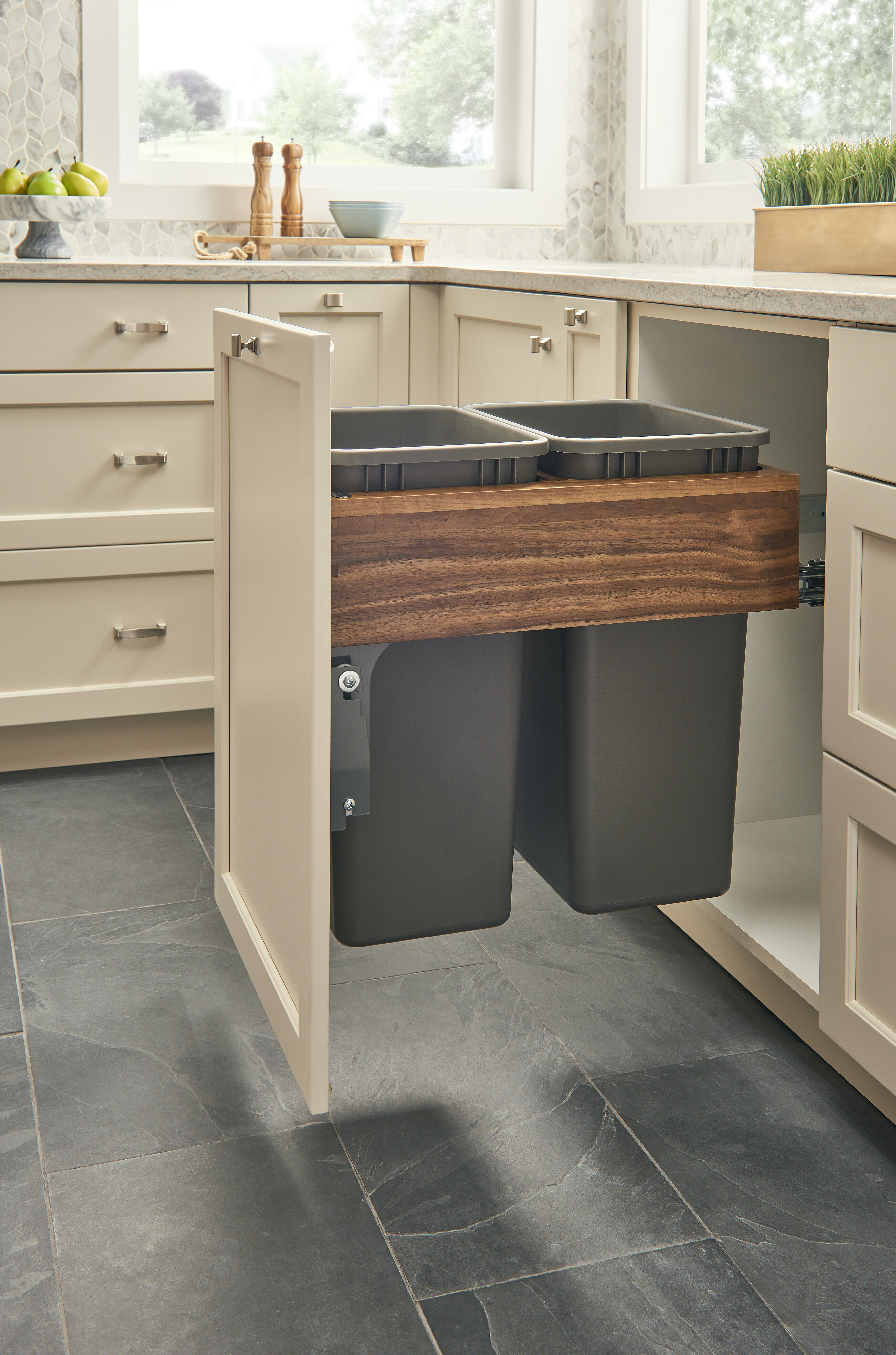 pull door drawers drawer trash and doors into out turn pin can a