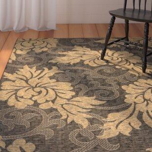 Laurel Black/Gray Indoor/Outdoor Area Rug byAugust Grove