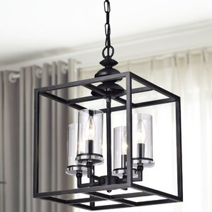 la pedriza 4light led foyer pendant with glass cylinders