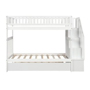 Emlen Twin Over Twin Bunk Bed with Trundle by Harriet Bee