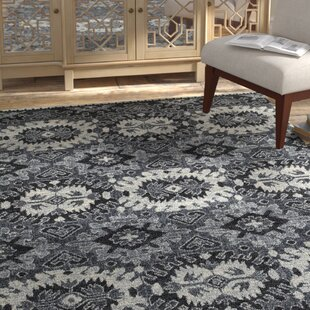 Inexpensive Fellman Black/White Area Rug By Bloomsbury Market