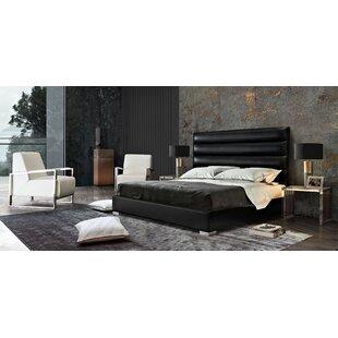 Diamond Sofa Bardot Channel Tufted Upholstered Panel Bed