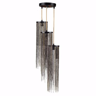 Cheshire Supremely Stylish 3-Light Cluster Pendant by Everly Quinn