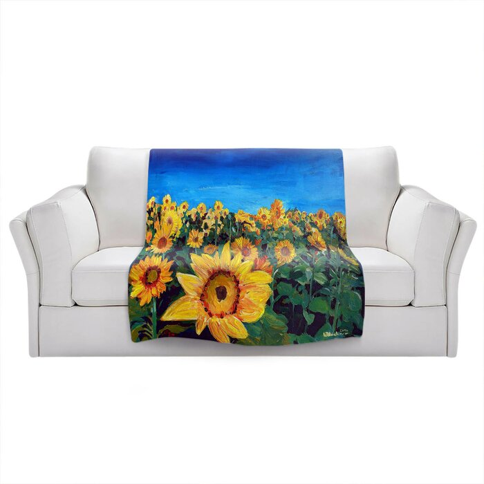 Kivanc Sunflower Fields Blanket