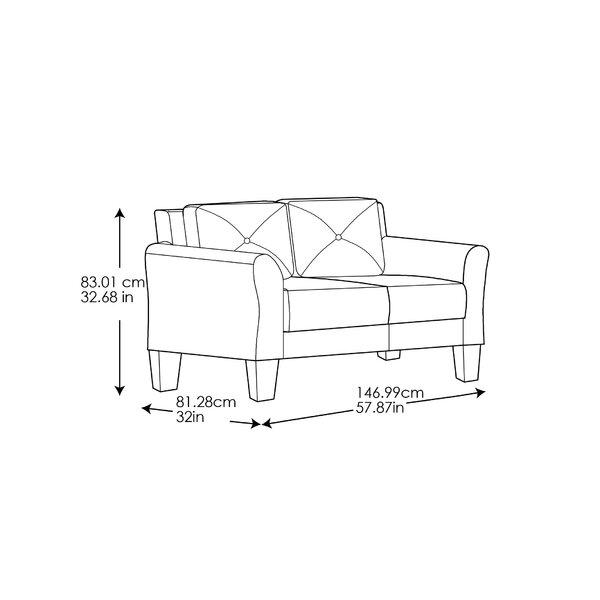 Zipcode Design Ibiza 57 9 Flared Armloveseat Reviews Wayfair