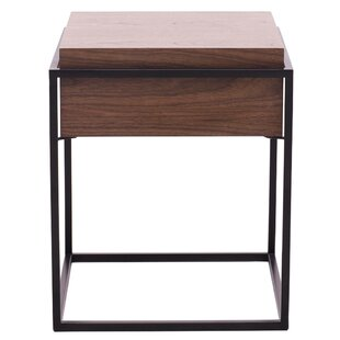 Union Rustic Lavallee End Table with Storage