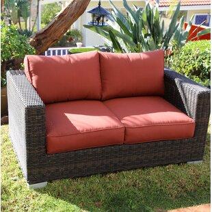 Longshore Tides Emelda Loveseat with Cushions