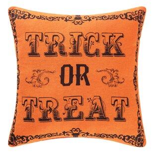 Goth Trick OR Treat Halloween Throw Pillow