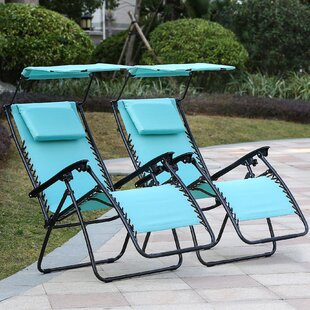 Zero Gravity Reclining Folding Chair (Set Of 2) by Freeport Park Purchase