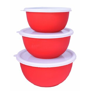 Burse Double Layer Air Insulated 3 Piece Stainless Steel Mixing Bowl Set