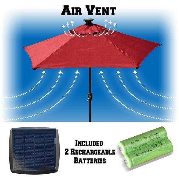 Solar Lighted Patio Umbrella | Wayfair