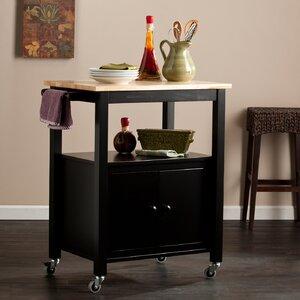 Tiltonsville Kitchen Cart with Butcher Block Top