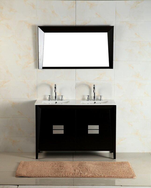 48 in double sink vanity. 48  Double Sink Vanity Set Bellaterra Home Reviews Wayfair