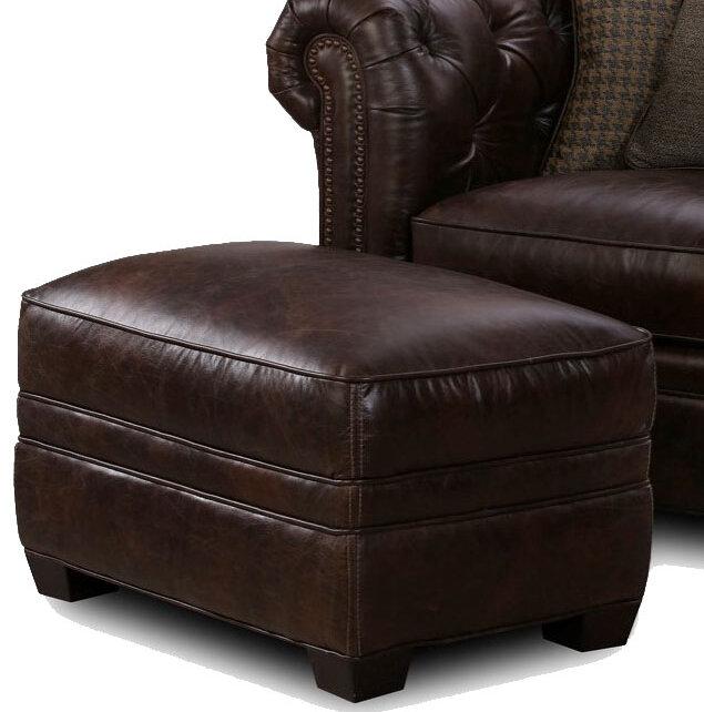 Canora Grey Hallman Leather Ottoman   Wayfair