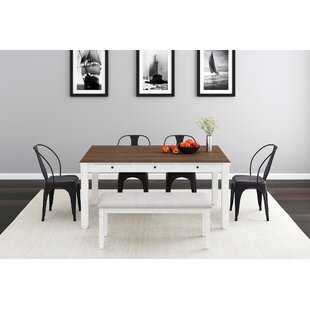 Rains 6 Piece Solid Wood Dining Set