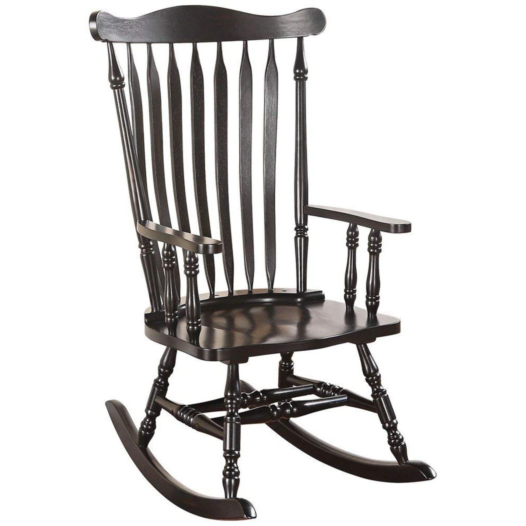 August Grove Levin Wooden Rocking Chair Wayfair