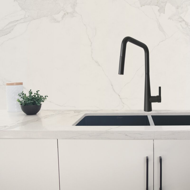 Stylish Pull Down Single Handle Kitchen Faucet Reviews Wayfair