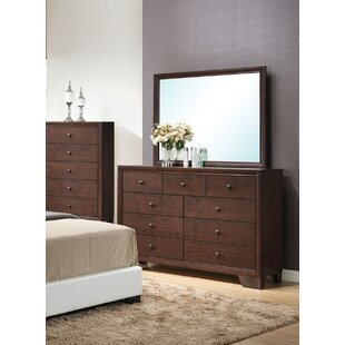 Ebern Designs Mccree 9 Drawer Dresser with M..