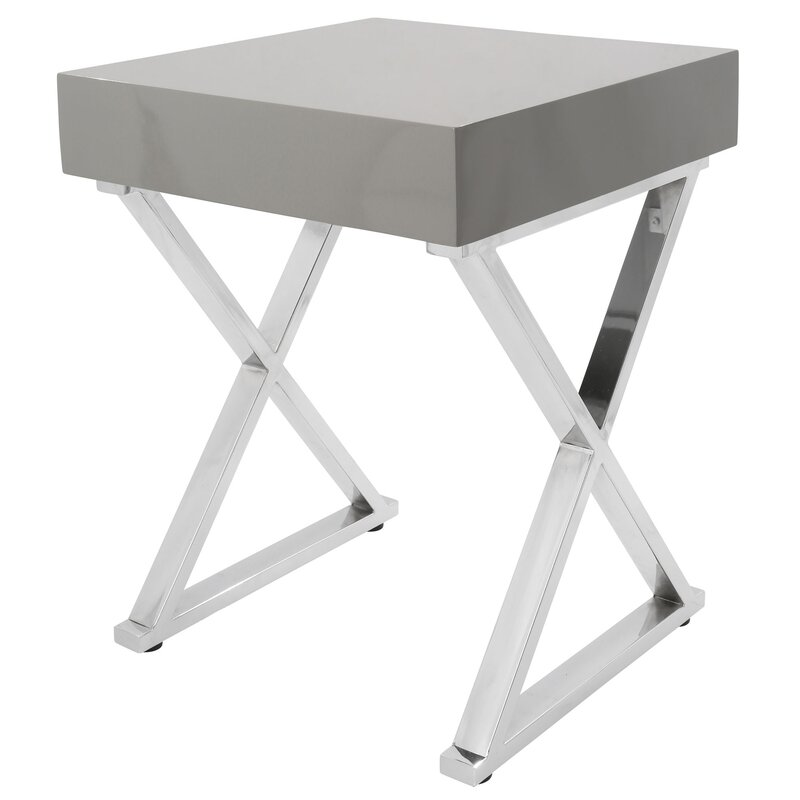 Wade Logan  June End Table Color: Gray