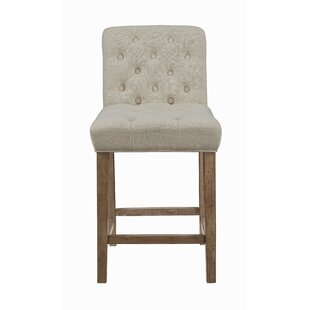 Find Stoker Tufted Upholstered Counter Stools Driftwood and Beige (Set of 2) (Set of 2) by Gracie Oaks Reviews (2019) & Buyer's Guide