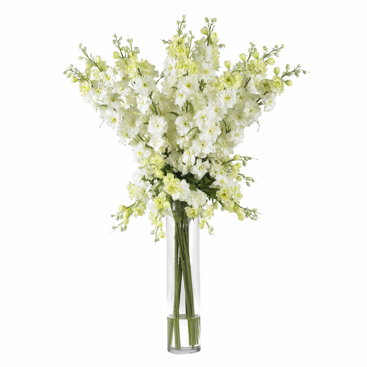 Nearly natural delphinium silk flower arrangement in white reviews nearly natural delphinium silk flower arrangement in white reviews wayfair mightylinksfo