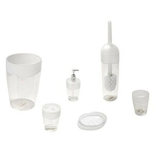 Rebrilliant Acrylic 5 Piece Bathroom Accessory Set with Frosted Trim