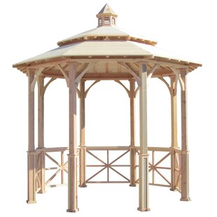 Sams Gazebos 10 Ft. W x 10 Ft. D Solid Wood Patio Gazebo