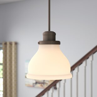 Chesterton 1-Light Bell Pendant by Three Posts