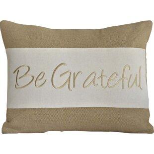 Be Grateful Lumbar Pillow