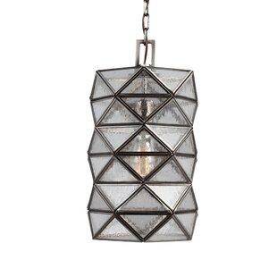 Mistana Rosalina 1-Light Mini Pendant with Seeded Water Glass
