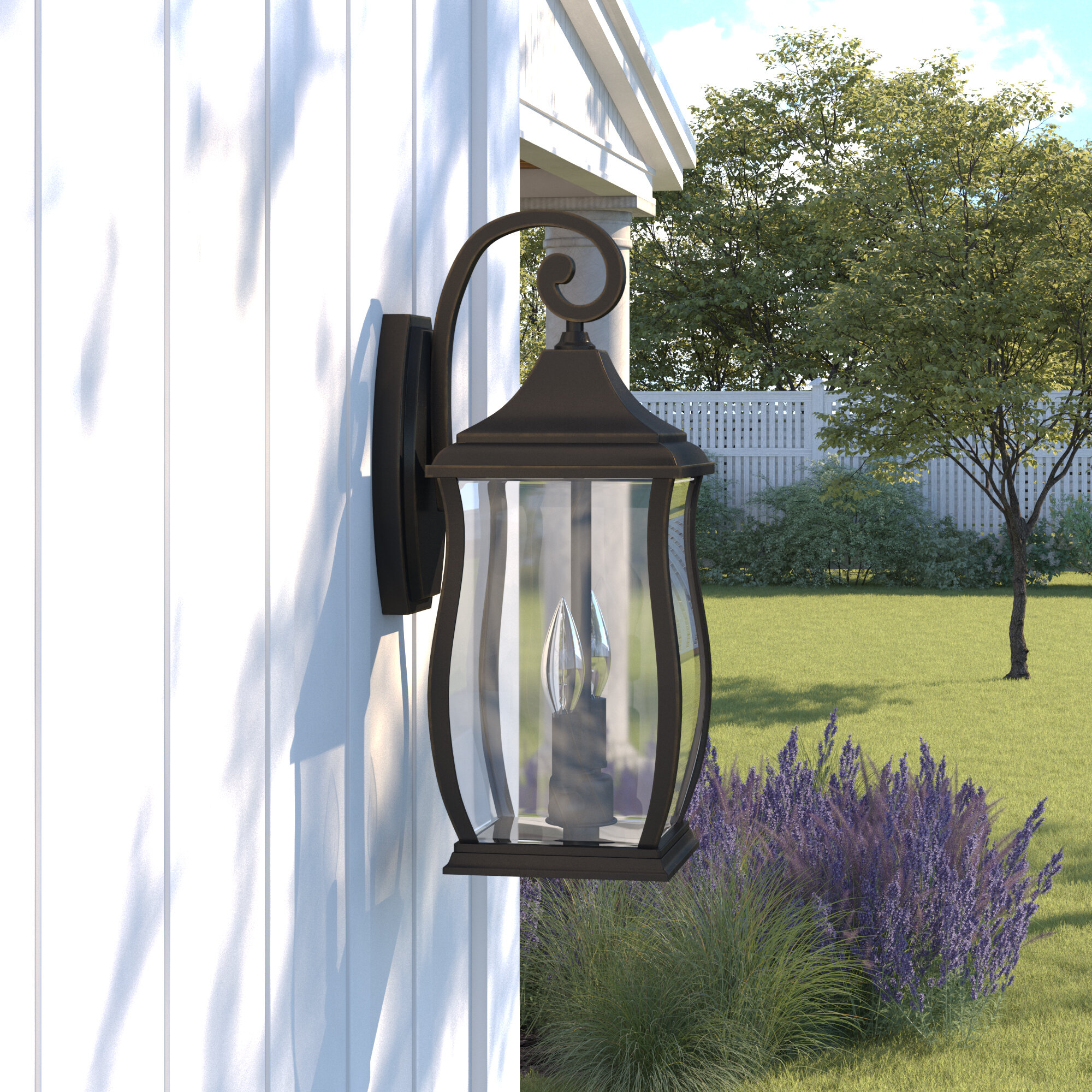 Farmhouse Rustic 2 Light Outdoor Wall Lights Birch Lane