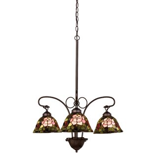 Meyda Tiffany Tiffany Rosebush 3-Light Shaded Chandelier