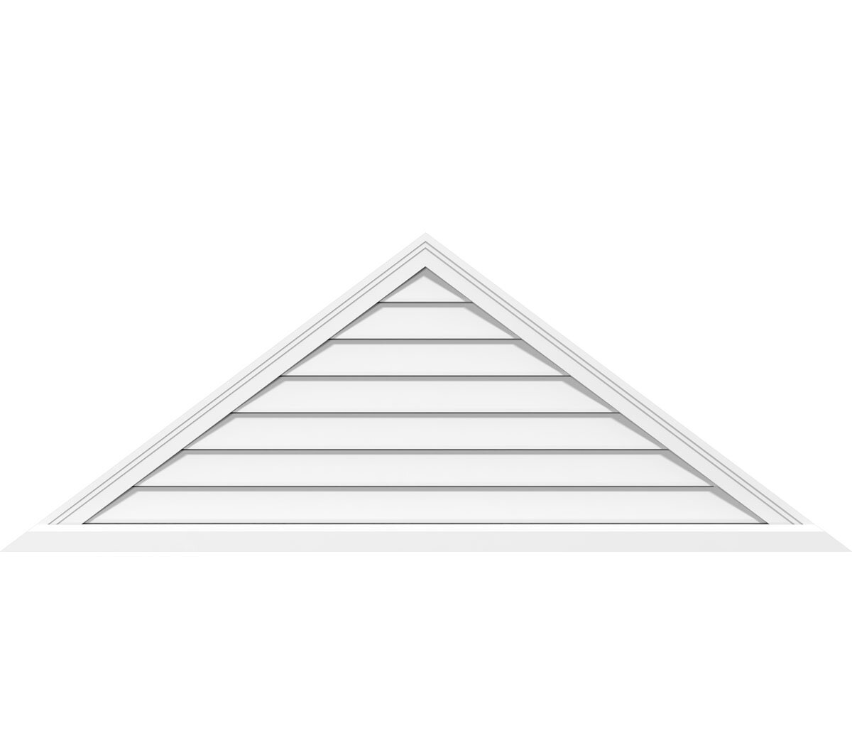 Ekena Millwork Triangle Surface Mount 11 12 Pitch Gable Vent In White Wayfair