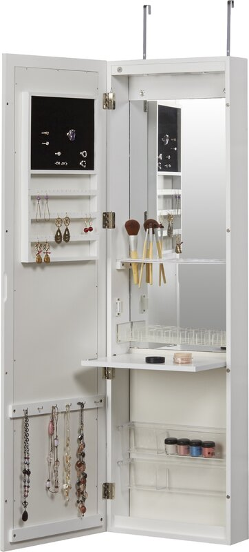 Carolina Jewelry And Makeup Cabinet Over The Door Jewelry Armoire With  Mirror