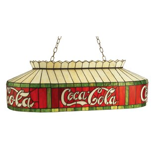 Tiffany Coca-Cola Pool Table Pendant by Meyda Tiffany
