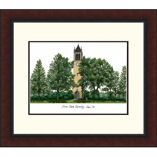 NCAA Iowa State Cyclones Legacy Alumnus Lithograph Picture Frame By Campus Images