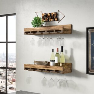 Oconner Wall Mounted Wine Glass Rack (Set of 2) by Union Rustic