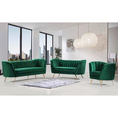 Koger Configurable Living Room Set Everly Quinn Upholstery Color Green