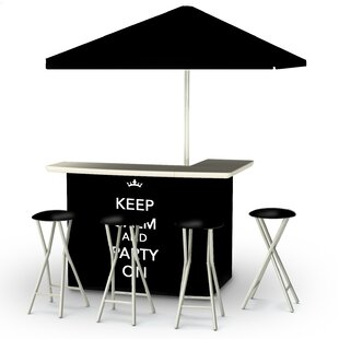 Best of Times Keep Calm and Party On 8 Piece Bar Set