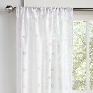 Staveley Geometric Semi-Sheer Rod Pocket Curtain Panels (Set of 2)