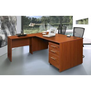 Top Reviews Buragate 3 Piece L-Shaped Desk Office Suite By Latitude Run