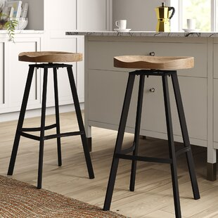 Lindquist 31.5 Swivel Bar Stool (Set of 2) by Mercury Row