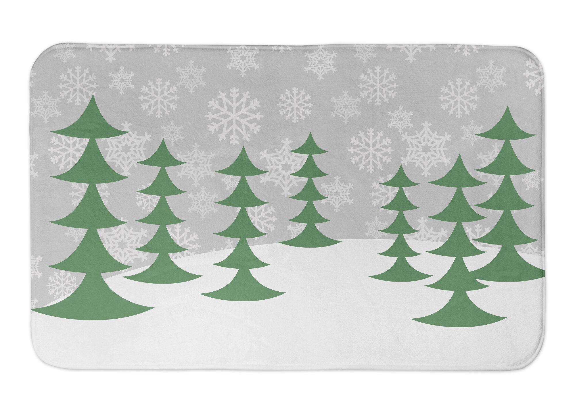 christmas tree bathroom rugs
