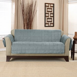 Deluxe Comfort Quilted Box Cushion Loveseat Slipcover by Sure Fit
