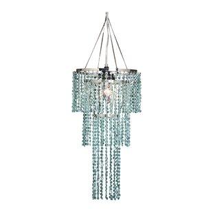 Felicia Triple Tier 1-Light Crystal Pendant by House of Hampton