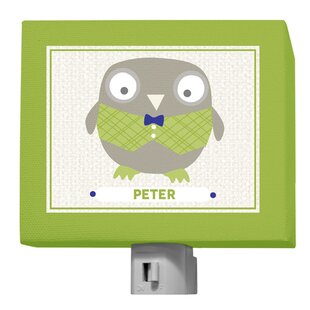 Oopsy Daisy Happy Owl by Vicky Barone Personalized Night Light