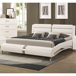 Dobson Upholstered Platform Bed by Wade Logan