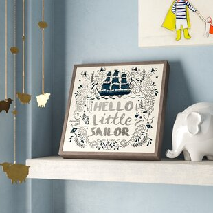 0e51578a3926 Bridgeton Hello Little Sailor Embellished Stretched Framed Art. by Harriet  Bee