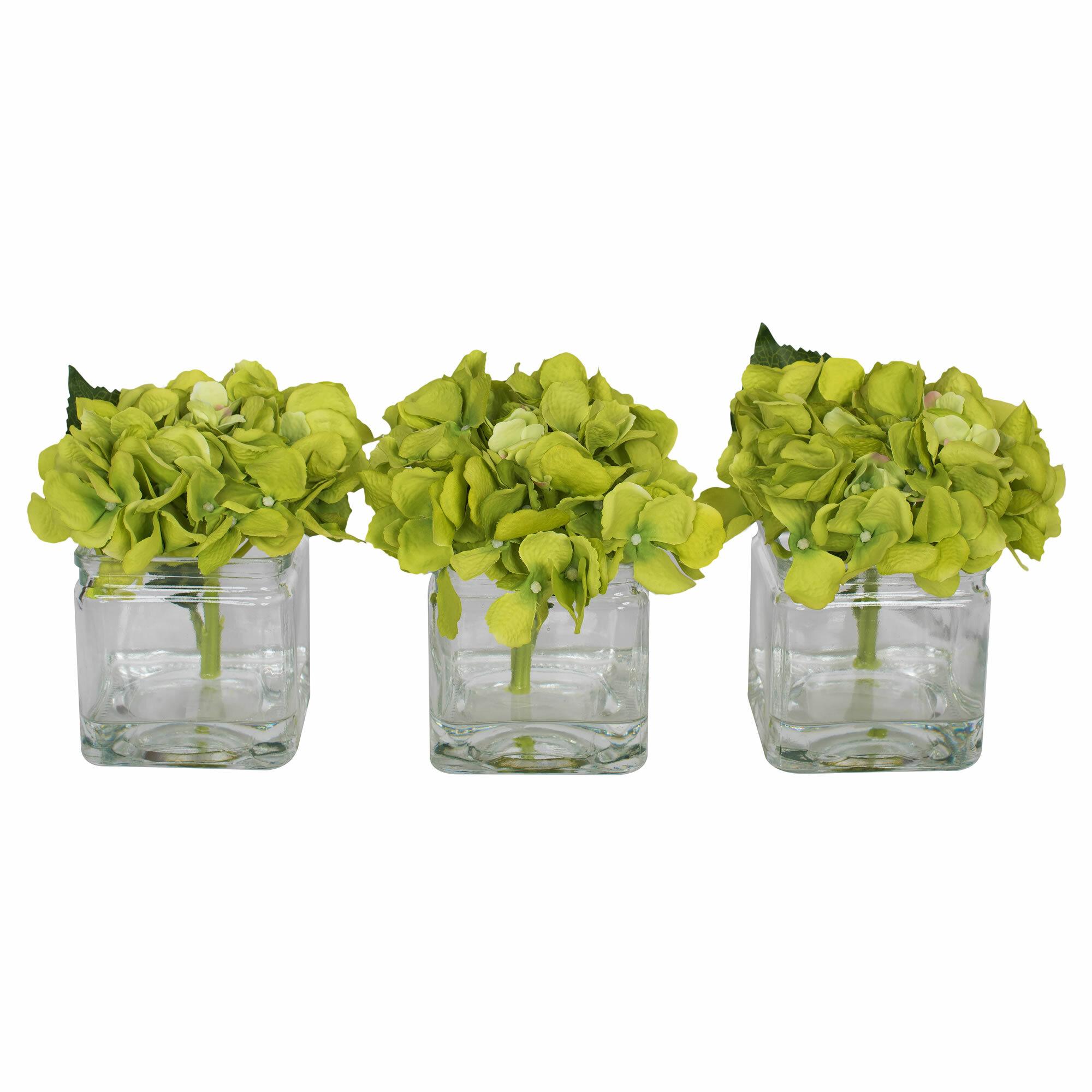 Hydrangeas Centerpiece In Vase Reviews Birch Lane