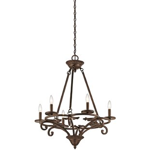Fleur De Lis Living Allan 6-Light Chandel..